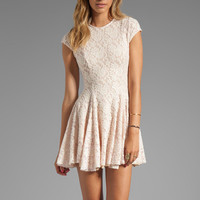 Torn by Ronny Kobo Cristal Lace Dress in Pink from REVOLVEclothing.com