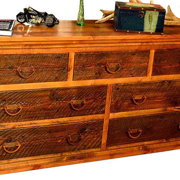 Rustic Seven Drawer Dresser Dusty Roads Collection