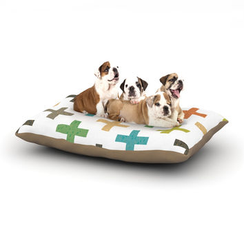 "Daisy Beatrice ""Hipster Crosses"" Multicolor Dog Bed"