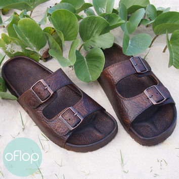 Buckle Dark Brown Pali Hawaii Sandals