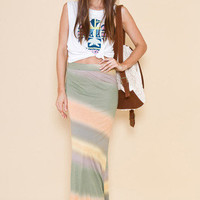 MARKET HQ | Acid Rainbow Maxi Skirt