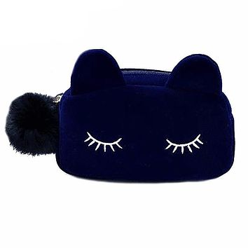 Cute Cat Cosmetic Bag