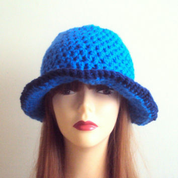 1920's Style Cloche Hat Crochet Beanie Festival Hat Chunky Hat Crochet Flapper Hat Fashion Hats Gift Ideas