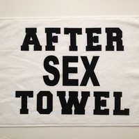 "After Sex Hand Towel 16"" x 26"" 100% Cotton Novelty Holiday Gift Stocking Stuffer"