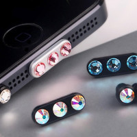 IPhone5 Anti Dust Data Cable Cap Plug with Swarovski Elements Crystal