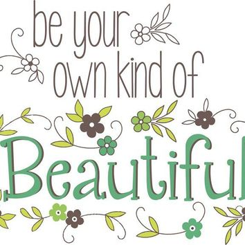 Brewster Wallpaper WPQ0809 Be Your Own Kind Of Beautiful Wall Quote
