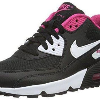 ESBONS Nike Youths Air Max 90 Mesh Leather Trainers womens nike air max