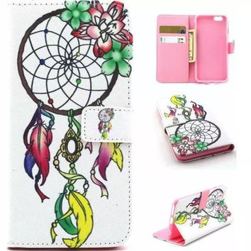 Unique Dreamcatcher Case Cover PU Leather Wallet for iPhone & Samsung Galaxy S6  iPhone 6s Plus-170928