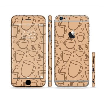 The Vintage Vector Coffee Mugs Sectioned Skin Series for the Apple iPhone 6/6s Plus