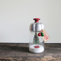 Mason Jar Snow Globe With Vintage Finds