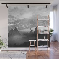 Black and White - Winter. Melody... Wall Mural by vivianagonzlez