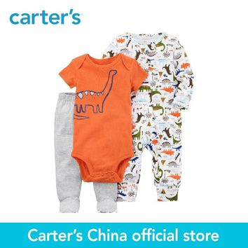 Carter's 3-Piece baby children kids clothing Boy Spring & Summer Cotton Dinosaur Sleep & Play Set 126H333