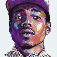 "Chance the Rapper Acid Rap Fabric poster 36"" x 24"" 20"" x 13"" Decor -04"