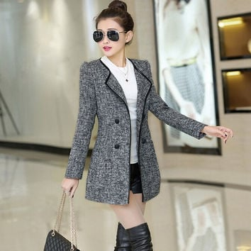 Fashion Women Woolen Coat = 1782333828