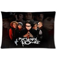 Custom Music Band My Chemical Romance Rectangle One Pillow Case 20x30 (one side) Home Decoration Gift Idea
