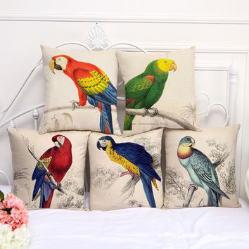 Parrot Pillow Covers