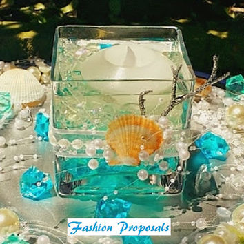 Wedding Beach, Summer, Nautical, Centerpieces set of 10 complete set ready to use Beautiful complete centerpiece just to place on you table