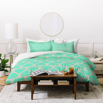 Allyson Johnson Mint Diamonds Duvet Cover