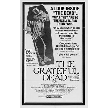 Grateful Dead poster Metal Sign Wall Art 8in x 12in Black and White