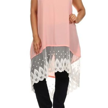 Plus Size Lace Tunic