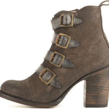 Freebird By Steven For Women: Fb Banjo Grey Heel Booties
