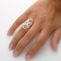 Sterling Silver Circles Ring, Bubble Ring, Circles of Love