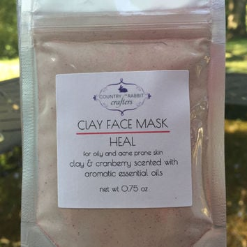 Face Mask - Face Heal - Face Treatment - Oily Skin Mask - Oily Face Treatment - Clay Face Mask - All Natural Face Mask - Oily Skin Treatment