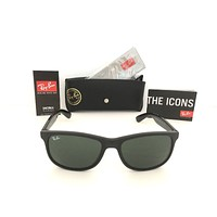 Cheap NEW Ray Ban RB4202 Andy 6069/71 55mm Matte Black Frame, Classic Green Lenses outlet