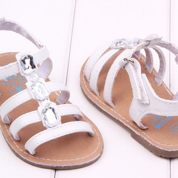 White Crystal Sandals
