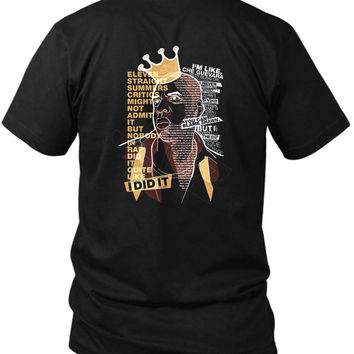 Jay Z Eleven Straight Summers 2 Sided Black Mens T Shirt