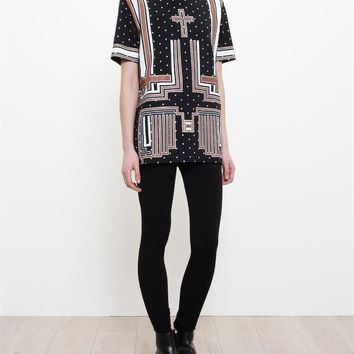 Jersey T-Shirt with Cross Print - GIVENCHY