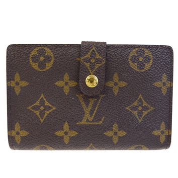 Auth LOUIS VUITTON Viennois Bifold Wallet Purse Monogram Leather M61663 01EC896