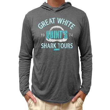 Jaws 'Shark Tours' Hooded Long Sleeve Adult Tee