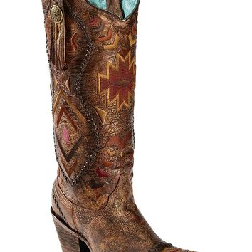 Corral Boots Women's C2872 Cognac/Multicolor Boot