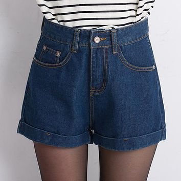 6 EXTRA LARGE Vintage Jeans Summer Cheap High Waist Short Jeans Casual Woman Denim Shorts Feminino Women Sexy Jean Shorts