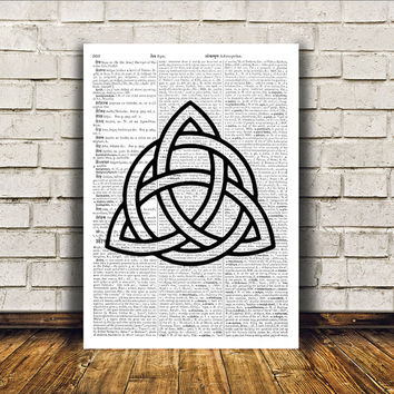 Trinity knot print Scandinavian art Wall decor Viking poster RTA79