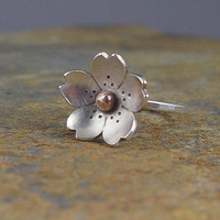Cherry Blossom Ring  with Bronze center   Sakura by HapaGirls