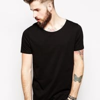 ASOS T-Shirt With Wide Boat Neck
