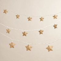 Burlap Star 10-Bulb String Lights - World Market