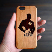 The Flash Wood iPhone 6 6s Case , Personalized iPhone 6 6s Wood Case , Custom iPhone 6 6s Case Wood , Wooden iPhone 6 6s Case , Gift for him