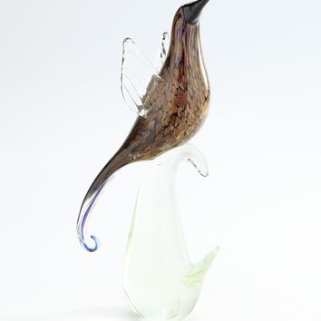 Handmade Decorative Glass Art Bird