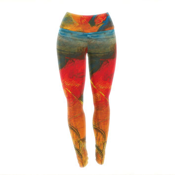 "Josh Serafin ""What's Beneath My Feet"" Fish Seagull Yoga Leggings"