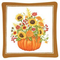 Gift Boxed Set of 4 Pumpkin Spiced Mug and Tea Cup Mat