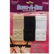 SAVE A BRA(3.5 X 1.5)DOUBLE HOOK EXTENDER-TIGHT-MATERNITY(BLACK,WHITE,NUDE)