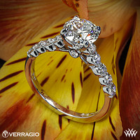 Platinum Verragio Shared-Prong Cathedral Diamond Engagement Ring