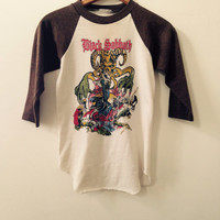 Vintage Black Sabbath Mob Rules Raglan