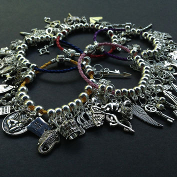 Custom Made Charm Bracelet Braided Leather Charm Bracelets Charms Pendants European Bracelets (You pick the charms & bracelet!)
