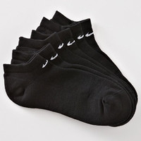 Nike Women's Performance No Show Socks 3 Pair - Shoe Size: 6-10 Black