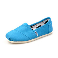 Men Women Soft Casual Canvas Summer Breathable TOMS Shoes Sky Blue Flats