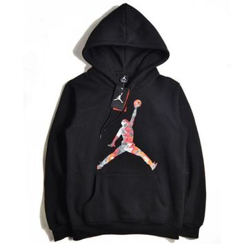 Jordan autumn and winter camouflage printing men and women hooded hood hooded sweater